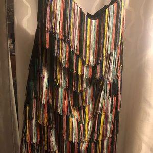 Multicolor Fringe Dress